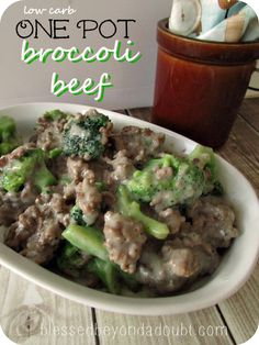 Low carb beef brocco