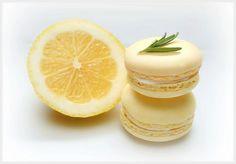 Lemon rosemary white chocolate macarons recipe.