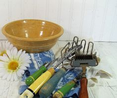 Vintage Wooden Handled Utensils Collection  Retro by DivineOrders, $21.00