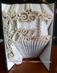Merry Christmas Combi Cut and Fold Book Folding Pattern                                                                                                                                                      More