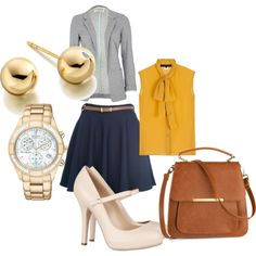 business casual, created by hayleah-hanger on Polyvore