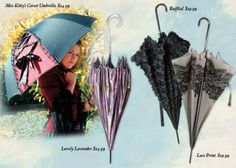 Umbrellas from Victorian Trading Company....so frilly and fun!!