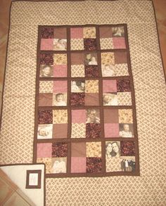 Photo transfer quilt by Mummi Quilts.  Great gift idea for any occasion.