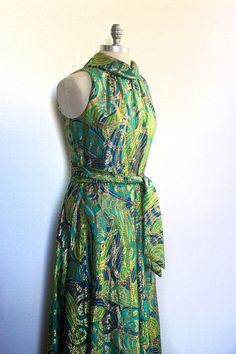 1960s vintage dress / cocktail party dress / maxi by dingaling, $48.00