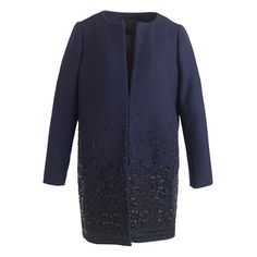 Collection embellished cocoon coat | J.Crew