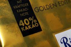 Ritter Sport Goldschatz - Vollmilchschokolade mit  40% Kakao