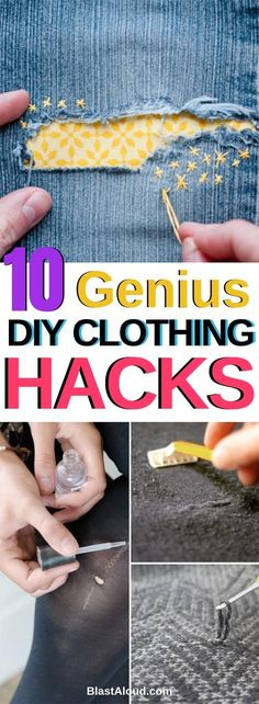 Quick DIY clothing hacks and fixes to fix your damaged clothes - DIY upcycling c. - - Quick DIY clothing hacks and fixes to fix your damaged clothes - DIY upcycling clothes. Sewing Patterns Free, Free Sewing, Sewing Hacks, Sewing Tutorials, Sewing Tips, Sewing Ideas, Diy Kleidung Upcycling, Upcycling Fashion, Upcycling Clothing