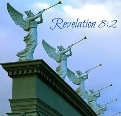 Revelation 8:1 And when he had opened the seventh seal, there was silence in heaven about the space of half an hour.     2 And I saw the seven angels which stood before God; and to them were given seven trumpets.
