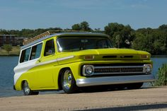 Check out this 1965 Chevrolet Suburban with a Edelbrock Demon 625 Manifold and a Chevy 383 Engine, featured in the July issue of Classic Trucks Magazine Chevrolet Suburban, Classic Chevrolet, Chevrolet Trucks, Cool Trucks, Chevy Trucks, Pickup Trucks, Mini Trucks, Chevy Pickups, Station Wagon