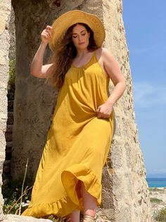 Dress By Mat. fashion Real Size Plus Size Fashion #matfashion #matfashionistas #matstyle #therealyou #realsize #realwomen #loveyourcurves #bodypositive #bodypositiveinfluencer #bodypositivity #SpringSummer2020 #ss2020 #collection #fashion #stylebeyondsize #streetstyle #beach #sea #summerstyle #resort #greeksummer Mat Fashion, Real Women, Plus Size Fashion, Curves, Spring Summer, Street Style, Summer Dresses, Collection, Beach