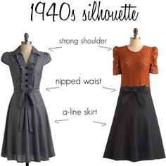 Image result for 1940's fashion