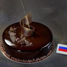 The Russian pastry team's Chocolate dessert from the 2009 Pastry World Cup. Photo by Michel Godet.