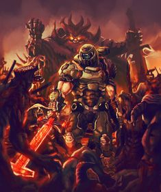 Video Game Art, Video Games, Apocalypse, Doom Demons, Goblin, Doom 2016, Doom Game, Slayer Meme, Ghost Rider