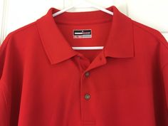 Grand Slam Performance Long Sleeve Polo Classic Shirt Golf Size XXL Red #GrandSlam #PoloRugbyGolf