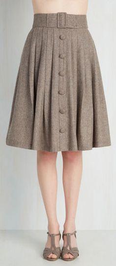 cute button down skirt