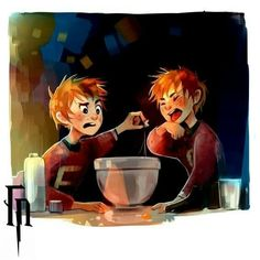 Read Fred e George from the story Fanarts Harry Potter Fanart Harry Potter, Harry Potter World, Memes Do Harry Potter, Arte Do Harry Potter, Harry Potter Artwork, Harry Potter Drawings, Harry Potter Universal, Drarry Fanart, Hogwarts
