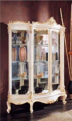 classic style lacquered display case ROCOCO' Modenese Gastone Luxury Classic Furniture