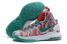Discount Nike KD V Green Red White Wholesale