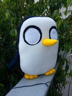 Gunter the Penguin plush Adventure Time toy by sappymoosetree, $29.00