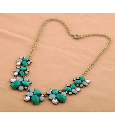 Fashion fashion accessories inlaying gem vintage women's necklace from bemodia.com