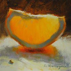"Daily Paintworks - ""February Orange"" - Original Fine Art for Sale - © Elena Katsyura"