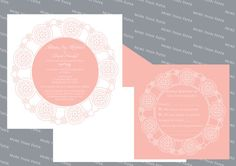 Doily Wedding Invitation & Stationery on Etsy, $7.00 AUD