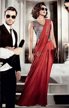 Buy Red Priyanka Chopra Saree Gown, Party, dresses and gown Online Shopping Priyanka Chopra Dress, Western Dresses For Women, Online Shopping, Wedding Gowns Online, Gown Suit, Gown Dress, Saree Gown, Red Saree, Party Wear Sarees