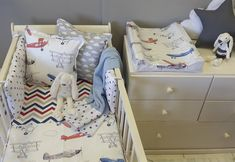 If your boy is a plane enthusiast, our unique Air Show bedding is the perfect theme in Red and Blue, perfect for any little boy's nursery!
