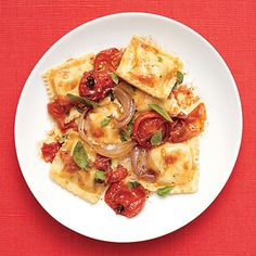 Ready-made ravioli and simple ingredients make this dinner of Tomato Ravioli so easy.