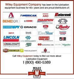 Located in southern California. Wiley Equipment Company services the entire Vehicle Servicing Industry with decades of experience working for various Oil Companies, Trucking Firms, Car Rental Companies, General Contractors, the Agricultural Community, Airlines, Transit Agencies, Equipment Rental Companies, and hundreds of automotive repair shops. Contact us today. 1-800-490-5389