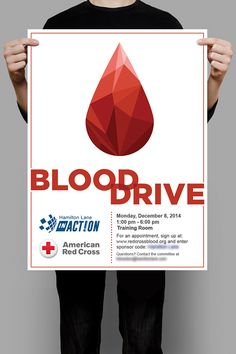 004 A poster I designed for the blood donation event in