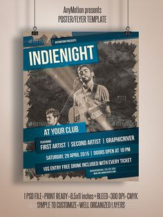 Indie Night Flyer Template - Clubs & Parties Events