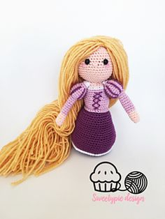 say hello to rapunzel ! this pdf pattern shows you how to make youre own rapunzel