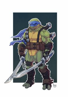 Alex Redfish - TMNT Leonardo                                                                                                                                                      Plus