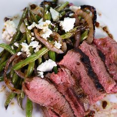 Keep it as a side with a regular steak. Make sure to cook onions thoroughly.| Curtis Stone's Grilled Tri-Tip With Green Bean And Red Onion