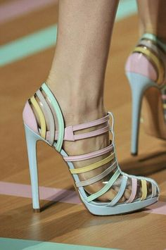strappy #pastel #colors #heels