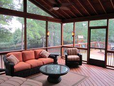 Cozy Screened Porch Interior - Design Ideas - Archadeck