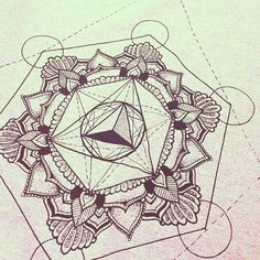A closer look at one of the designs. Inspired by sacred geometry.   Mandala Metatrons cube geometric triangle