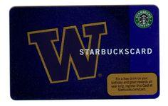 STARBUCKS University of Washington Card