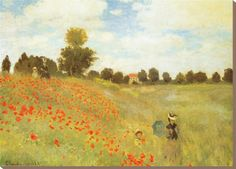 """Poppies at Argenteuil"", Claude Monet 1873, oil on canvas 50 x 65 cm, Musee d Orsay, Paris France"