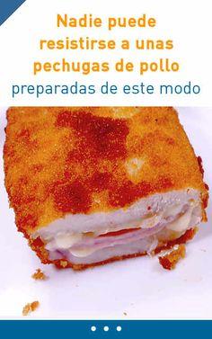 Nadie puede resistirse a unas pechugas de pollo preparadas de este modo #receta #pollo #cordonbleu #cena #rapido #video