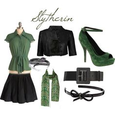 Slytherin by courtney-sprouse on Polyvore featuring polyvore, fashion, style, Proenza Schouler, ASOS, Marc by Marc Jacobs, Alice + Olivia, Mimco and clothing