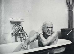 just picasso taking a bath