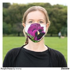 Shop Purple Pansy Cloth Face Mask created by mrsrnj. White Orchids, Shades Of Purple, Pansies, Purple Flowers, Sensitive Skin, Lavender, Blush, Floral, Face