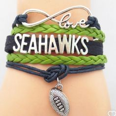 Seahawks leather bracelet(NWT)2 Left!! Price firm unless bundled, no trades! Makes a great gift Jewelry Bracelets