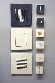Black and White by Lori Katz: Ceramic Wall Art available at www.artfulhome.com