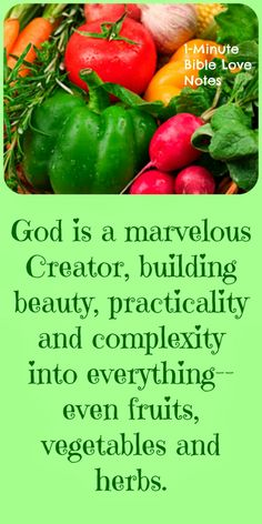 Even the simplest herb has the complex, practical beauty of God's design built in. Rosemary makes us remember and our God is always worth remembering. Double click image to read 1-minute devotion about his subject.