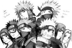Team minato vs team kakashi #kakashi #minato #obito #rin #naruto #sasuke #sakura