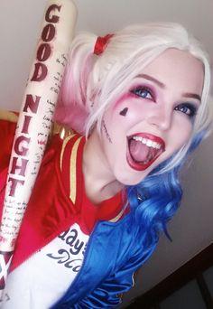 xandrastax: Harley Quinn wig and makeup...