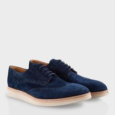 Paul Smith Shoes   Navy Fin Brogues
